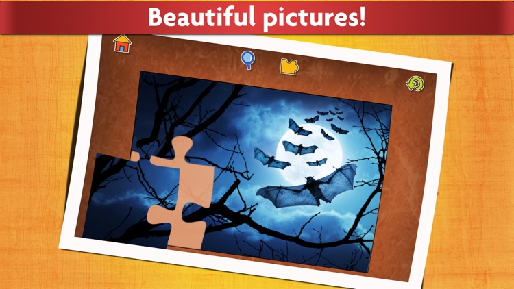 Halloween Puzzles - Relaxing photo picture jigsaw puzzles for kids and adults screenshot-3