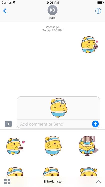 Shiro Hamster animated stickers screenshot-3