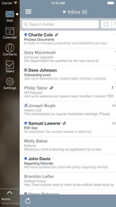 Mail review screenshots