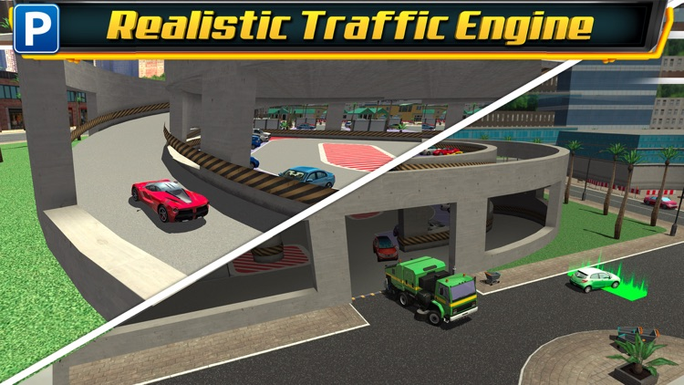 Multi Level 4 Car Parking Simulator a Real Driving Test Run Racing Games screenshot-3