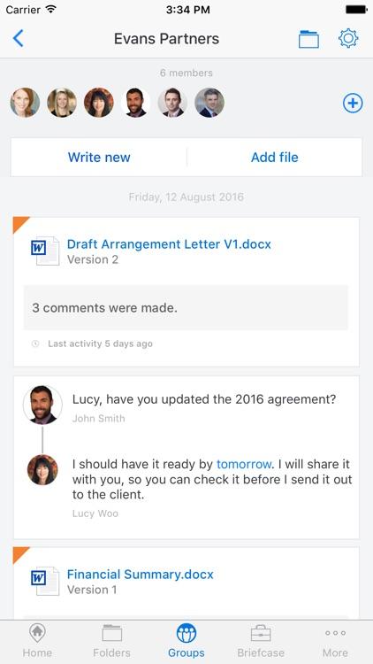 Workshare Mobile screenshot-3