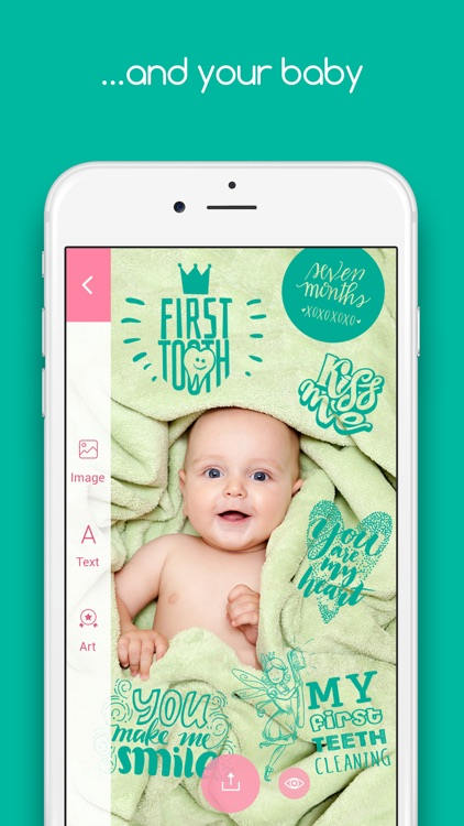 Tiny Memories - Photo Editor for Baby Pics app image