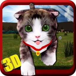 Real Cat Simulator 3D - Little Cute Kitty Simulation Game to Explore & Play in Home