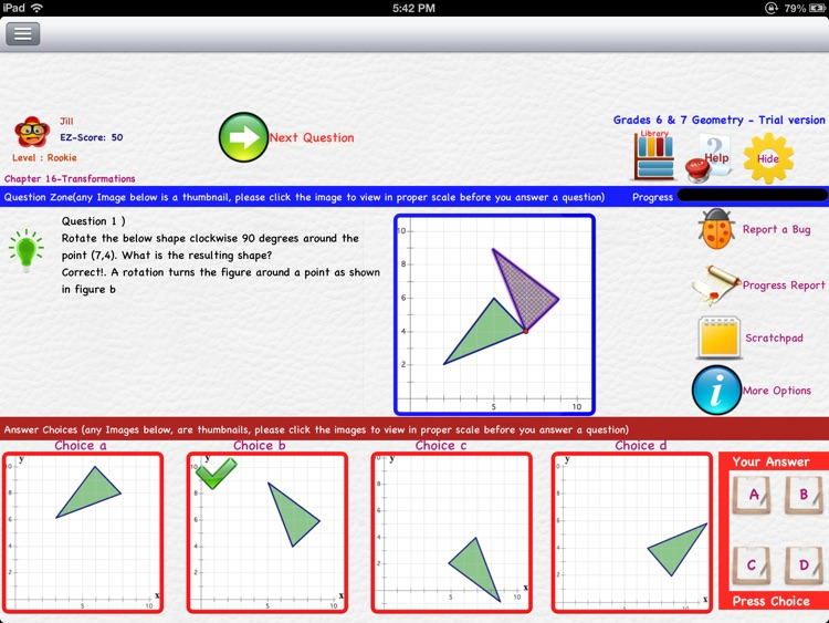 EZ Math for Middle School (Grades 5 to 8) Part 1 - Geometry & Trigonometry screenshot-3