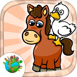 Farm animals - fun mini games for kids