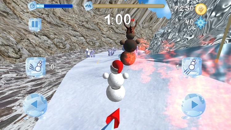 Snowman Race 3D screenshot-0
