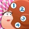 アクティブ! 数えることを学ぶためにかわいい虫と子供のためのゲームを数える