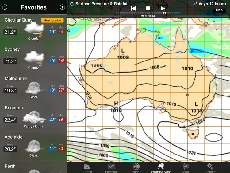 AUS Weather for iPad HD screenshot-3