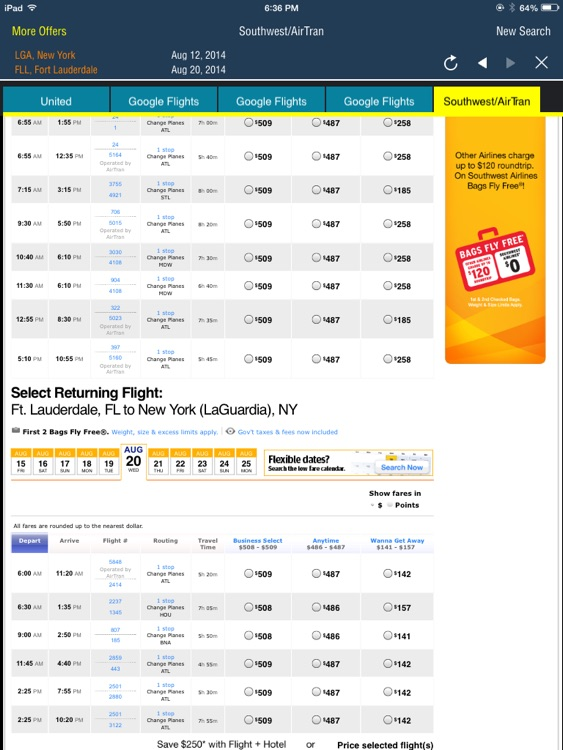 Frugal Flyer - enter once & see full offers from each airline HD screenshot-4