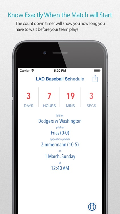 LAD Baseball Schedule Pro screenshot-0
