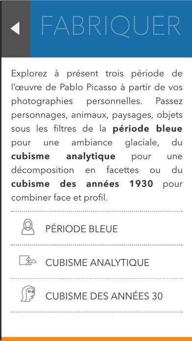 L'atelier Picasso, l'application ludique de l'exposition Picasso.Mania screenshot three