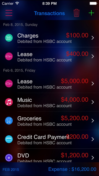 Expense Nova 2.0 : Home Budget and Account Manager and Personal Expense Tracker