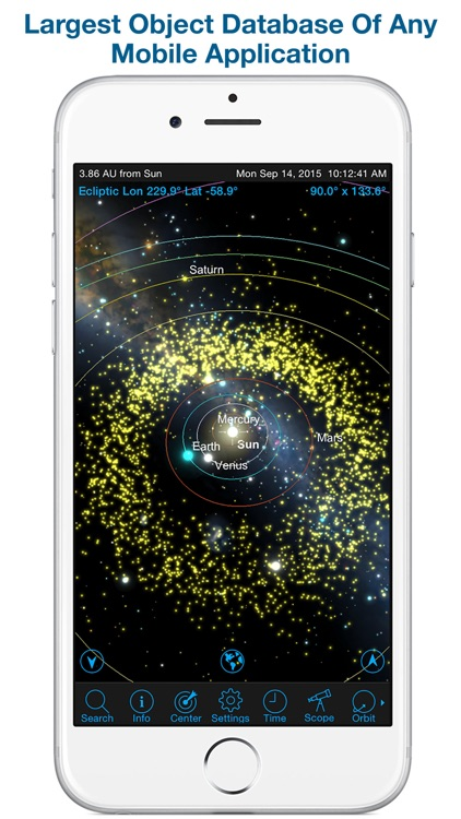 SkySafari 4 Pro: Professional Telescope Astronomy!  Explore Sun, Moon, Mars, Stars, Planets, and Satellites!  Go where NASA space missions have not!