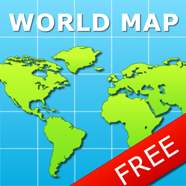 World Map For IPad FREE On The App Store - Maps of world