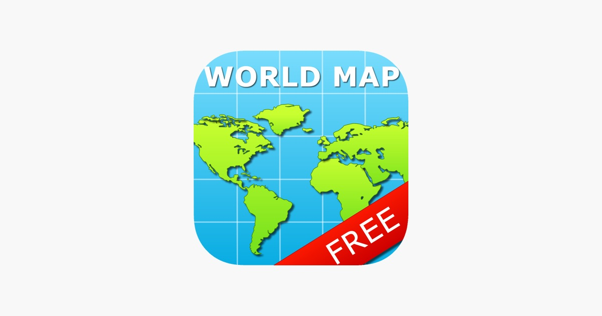 World map for ipad free on the app store gumiabroncs Gallery