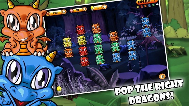 Dragon Poppers HD - Free Creatures Match & Crazy Power Puzzle Game
