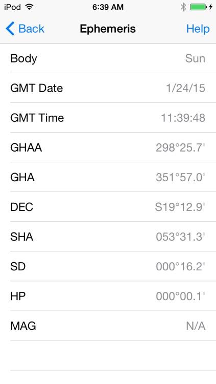iNA Digitial Nautical Almanac screenshot-3
