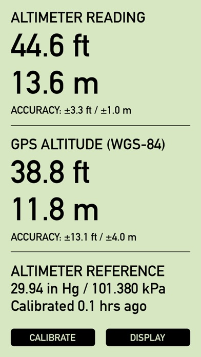 Pro Altimeter - Barometric Altimeter with Manual/GPS/METAR Calibration screenshot one