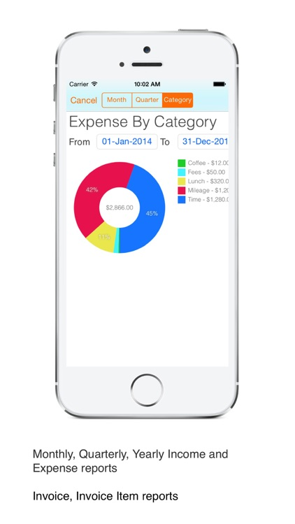 Business Expense Tracker Pro : for time, mileage invoice screenshot-4