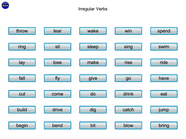English Irregular Verbs Vocabulary Grammar Free on the App Store – Irregular Verbs Worksheet 4th Grade