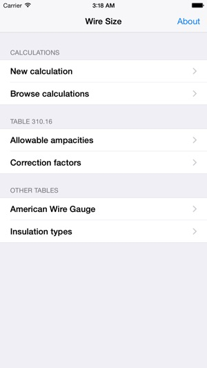 Wire size on the app store greentooth Choice Image