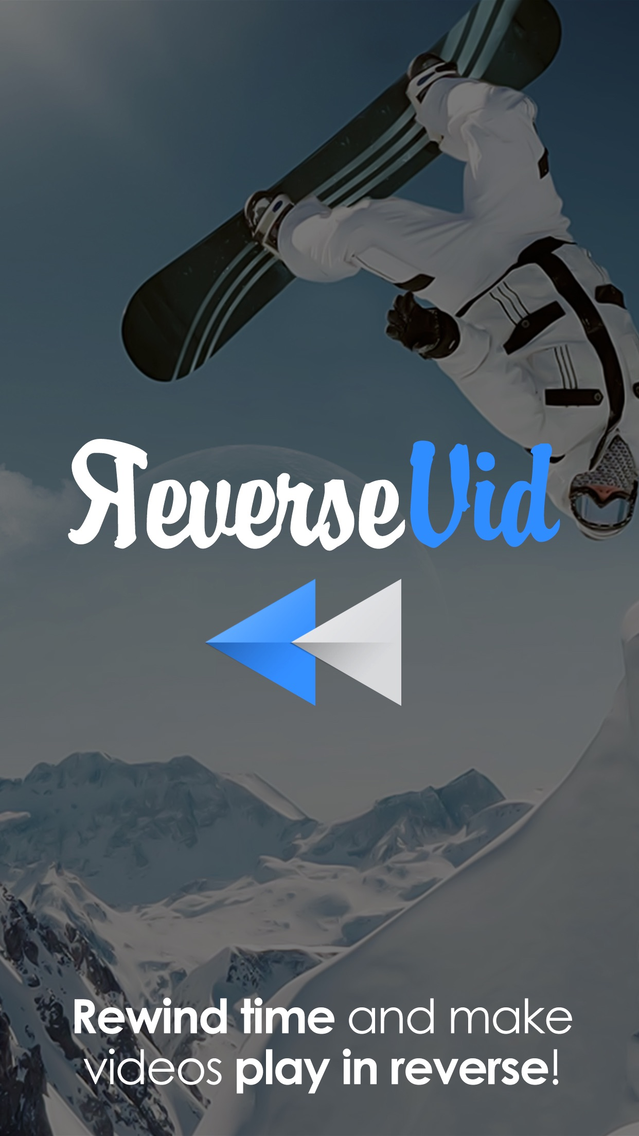 Reverse Vid - Video Rewind Editor for Backwards & Instant Replay Movies For Vine and Instagram Screenshot