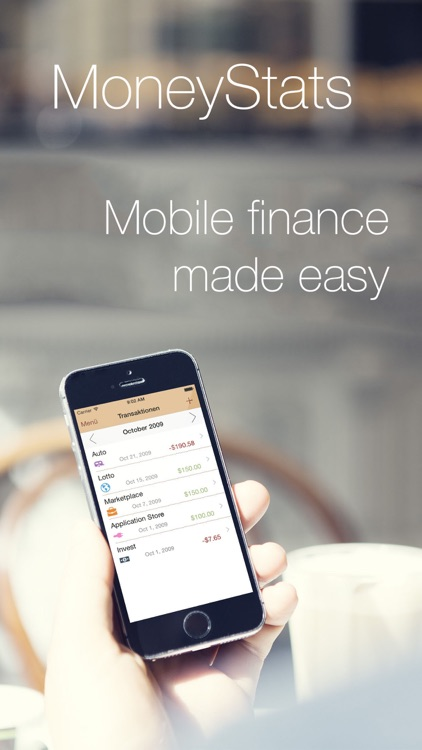 MoneyStats - Personal & mobile finance management and tracking application