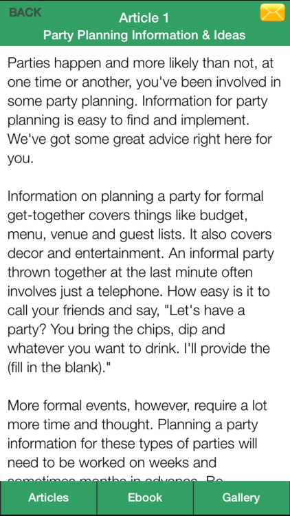 Party Planner Guide - A Guide To Planning Perfect Your Party! screenshot-4