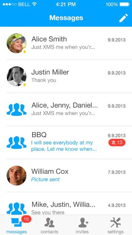 XMS - Unlimited messaging. screenshot-3