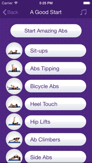Amazing Abs Personal Fitness Trainer App Daily Workout Video