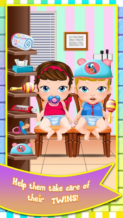 Mommy's Newborn Twins Baby Doctor Care - my new born salon makeover & girl nurse games for kids 2 screenshot-3