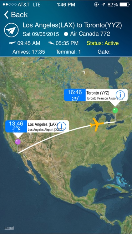 Toronto Airport (YYZ) Flight Tracker Pearson screenshot-0