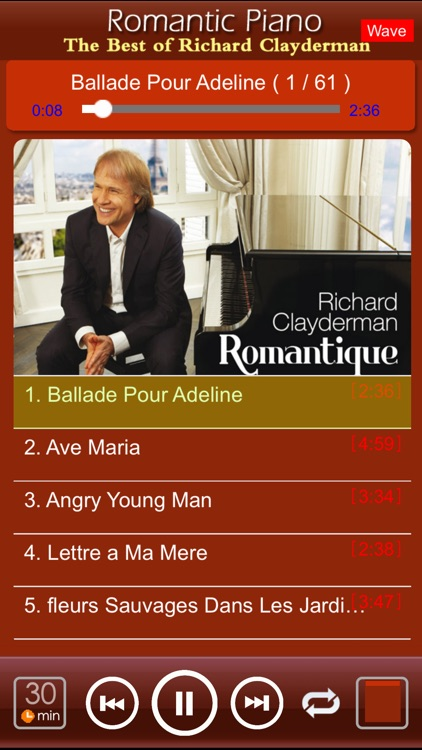 Romantic Piano[Richard Clayderman]