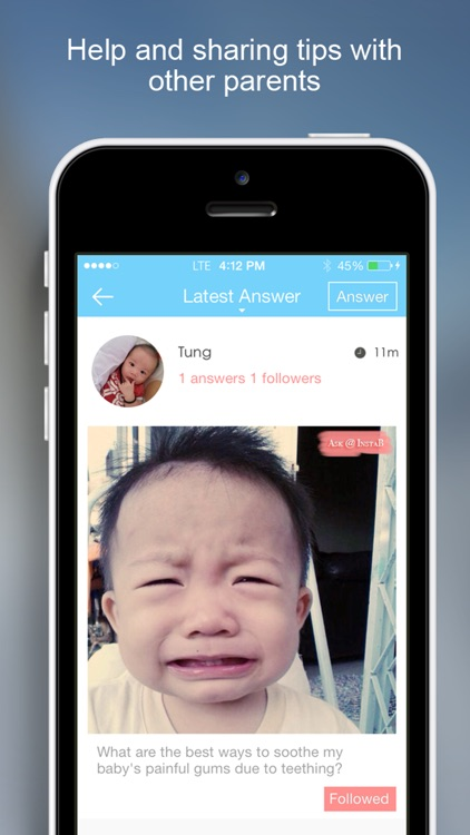 InstaB For Baby - Beautiful way to share baby's milestones, growth and advice screenshot-4