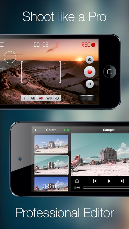 Videon - Video Camera and Editor with Zoom, Pause, Effects, Filters screenshot-0