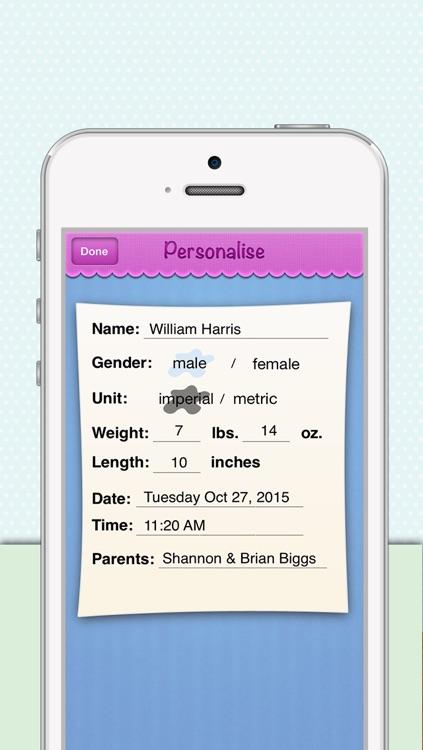 Birth Announcements screenshot-4