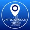 イギリスオフライン地図+シティガイドナビゲーター、観光名所と転送