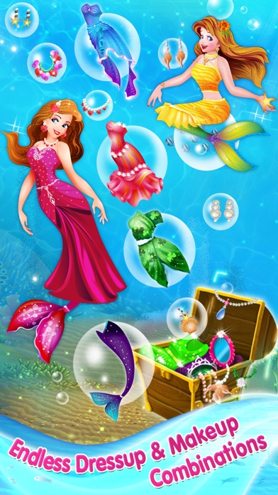 Mermaid Princess Makeover - Dress Up, Makeup & eCard Maker