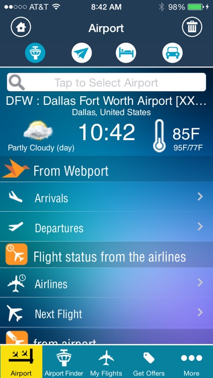 Dallas Fort Worth Airport (DFW) Flight Tracker Radar