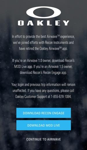 oakley airwave app
