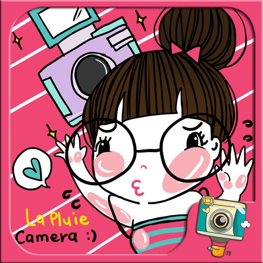 La Pluie Camera by Photoup - Cute Cartoon stickers Decoration - Stamps Frames and Effects Filter photo app iOS App