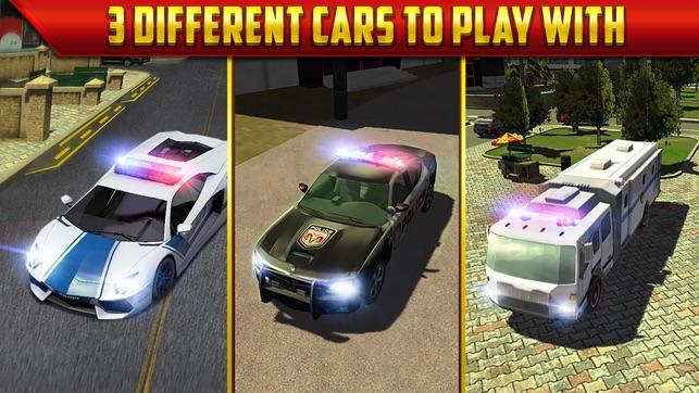 police car parking simulator game gratuit jeux de voiture de course dans l app store. Black Bedroom Furniture Sets. Home Design Ideas