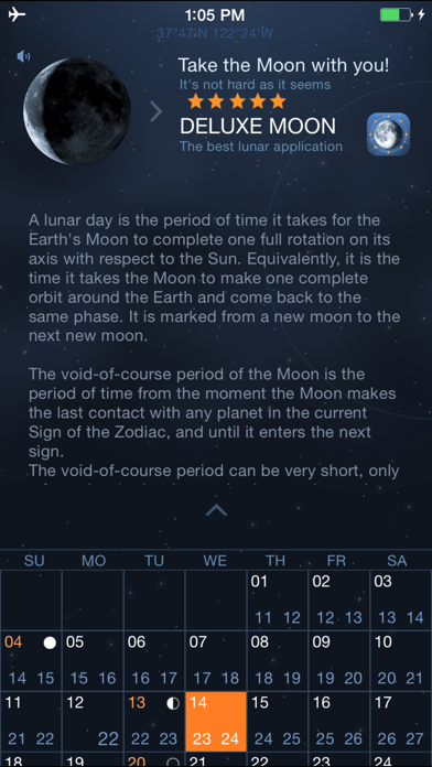 Moon Days - Lunar Calendar and Void of Course Timesのおすすめ画像3