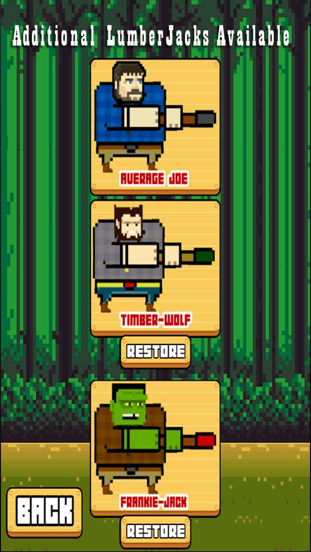 TIMBER the LumberJack Tree Chopping Man screenshot two