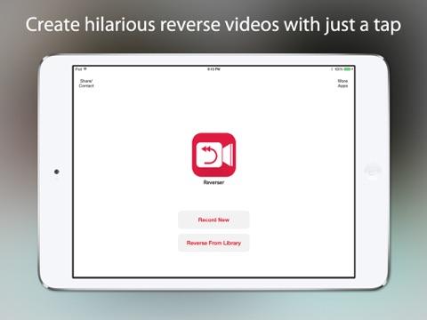 Reverser - Backwards Video Maker with Reverse Cam ipad images