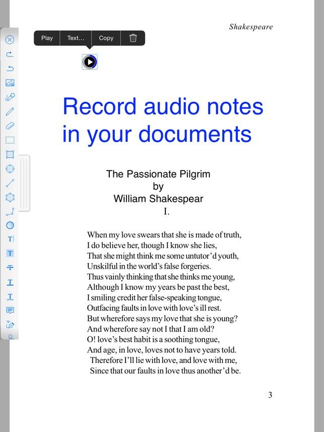 iWord Processor: Word processor + PDF annotazione. Screenshot