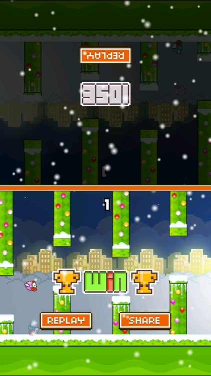 TinyFly Christmas 2014 - Xmas Flappy Racing - Multiplayer Birds Edition screenshot-2