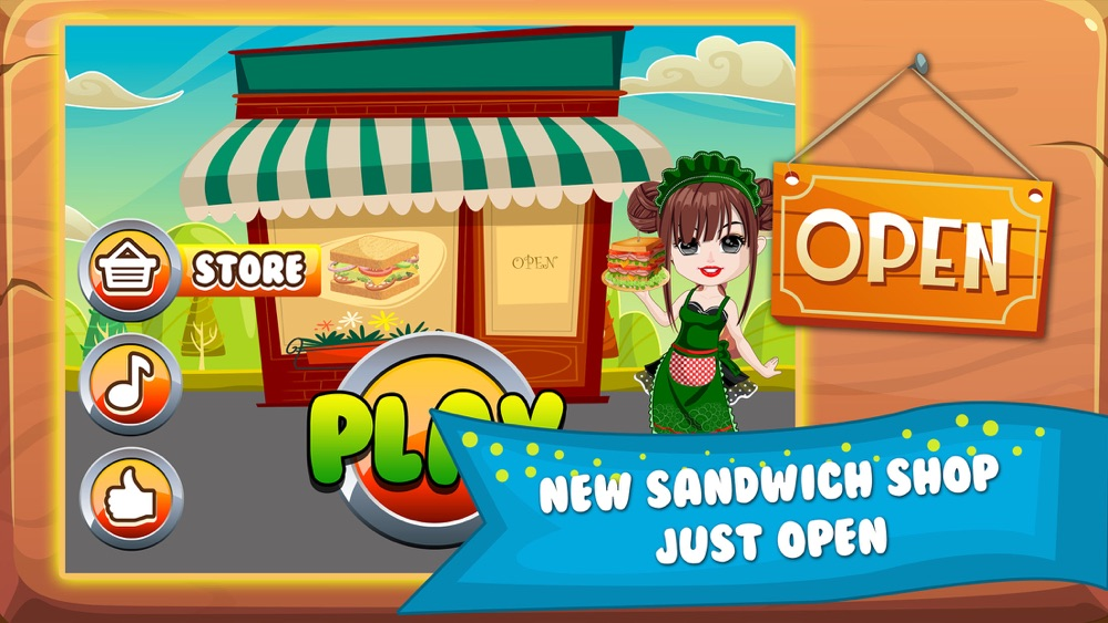 Sandwich Lunch Food Maker Mania – sim mama story & make cooking dash games for kids Cheat Codes