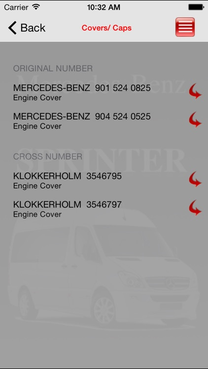 Autoparts Mercedes-Benz SPRINTER screenshot-1