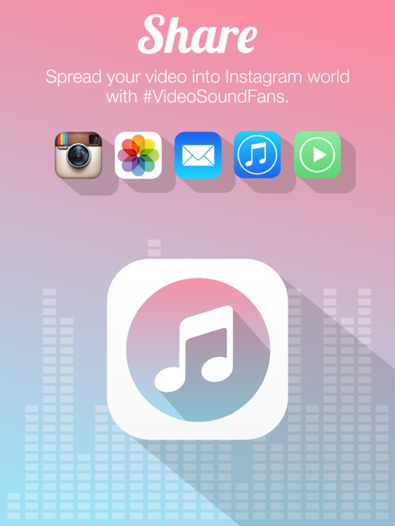 Video Sound for Instagram - Free Add Background Music to Video Clips and Share to Instagram Facebook Twitter for iPad Edition screenshot-4
